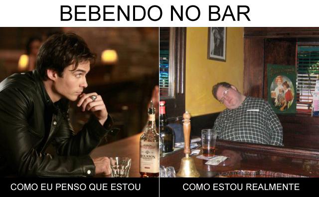 Bebendo-no-bar
